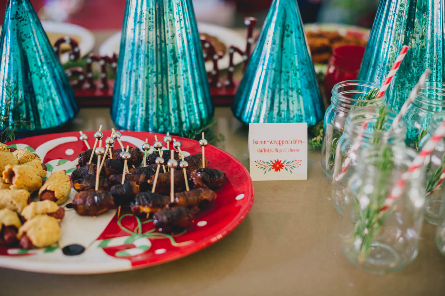 Bacon-Wrapped Dates with Goat Cheese // Christmas Party // www.https://www.thehisfor.com